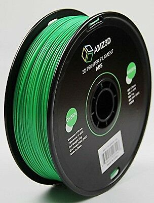 AMZ3D 1.75mm Green ABS 3D Printer Filament - 1kg Spool ABS-1.75-Green-1kg CXX