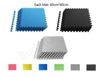Interlocking Soft EVA Foam Mats Kids Play/Garage/Gym/Exercise Floor Tiles
