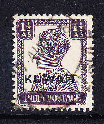 KUWAIT 1945 George VI SG56 1as of India overprinted - fine used. Catalogue £12