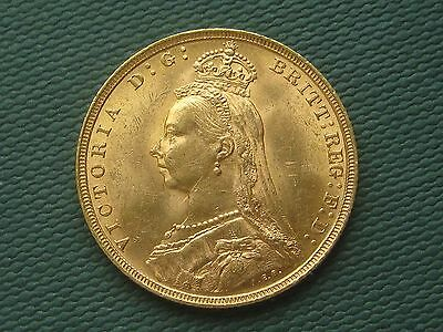 1891 Victoria Gold Sovereign Jubilee Head Long Tail High Grade