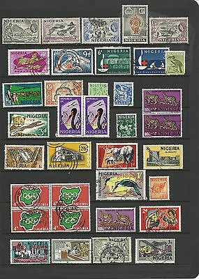 1960s Queen Elizabeth II Collection Animals Buildings Some Blocks Used NIGERIA