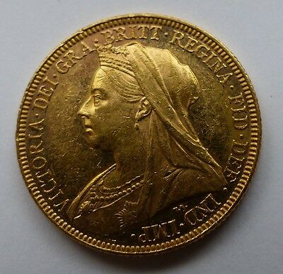1897 M Victoria Gold Sovereign Early Strike Some Proof Like Fields