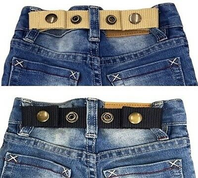 SNAP BELT for Baby&Toddler Boy & Girl Pants ADJUSTABLE-SISTER SELECTED x 2 Set 1