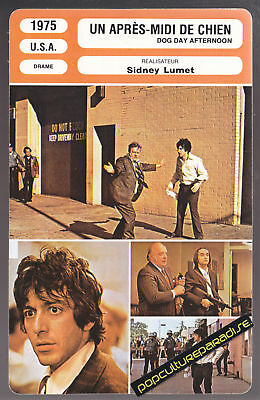 DOG DAY AFTERNOON 1975 Al Pacino Film MOVIE PHOTO CARD