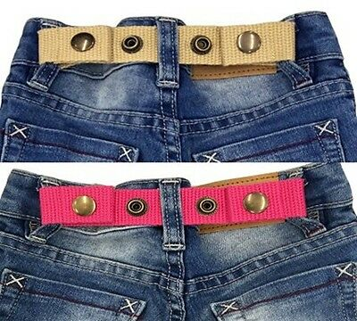 SNAP BELT for Baby&Toddler Boy & Girl Pants ADJUSTABLE-SISTER SELECTED x 2 set 4