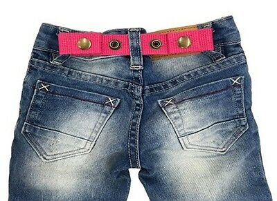 SNAP BELT for Baby&Toddler Boy & Girl Pants ADJUSTABLE-SISTER SELECTED (Pink)
