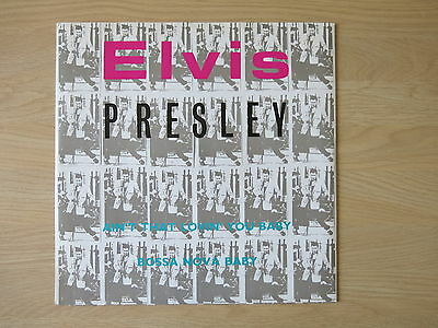 "ELVIS PRESLEY Ain't That Lovin' You Baby UK 4 track 12"" single in picture sleeve"