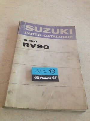 Suzuki Parts list Vanvan RV90 RV 90 J K L M catalogue liste pièce détachée