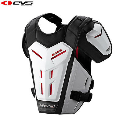 EVS Revo 5 Motocross Enduro Chest Protector Under Armour Guard Adult White