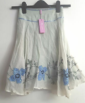 BNWT Lovely Monsoon Girls Beaded Sequins Embroidery Skirt - - Size 6-8 years