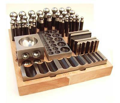 40pc Jumbo Doming Block Swage Punch Set made of Steel Dapping Die Jewellers Tool