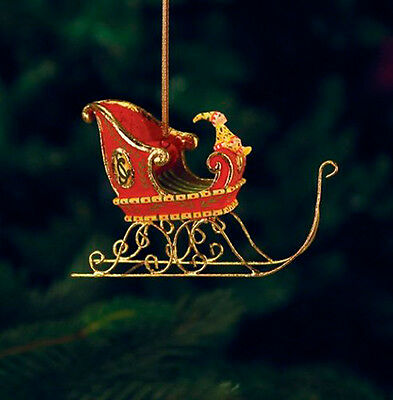 Patience Brewster Christmas Holiday Mini Dash Away Sleigh Ornament 08-30842