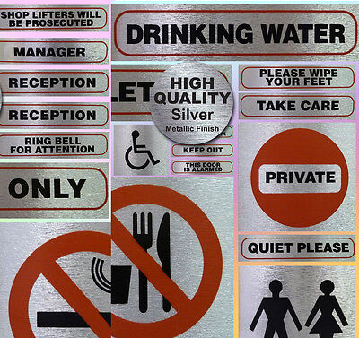 Health and Safety Warning Signs Work Site Information Self Adhesive Stickers No1