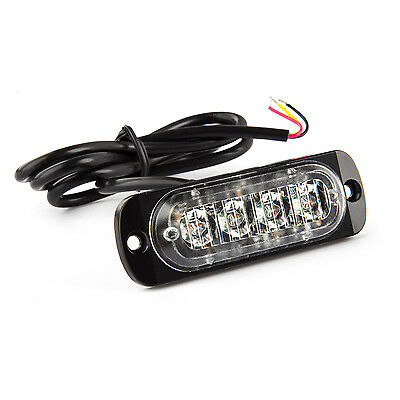 2x 4LED Amber Strobe Flashing Light Recovery Truck Grill Breakdown Lorry Lamp