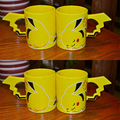 For Pokemon Pikachu Coffee Mug Cup Water Bottle Game Pocket Monsters For Adult