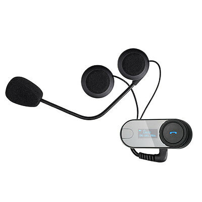 2x Motorcycle Motorbike Helmet Bluetooth Wireless Intercom FM Headset Interphone