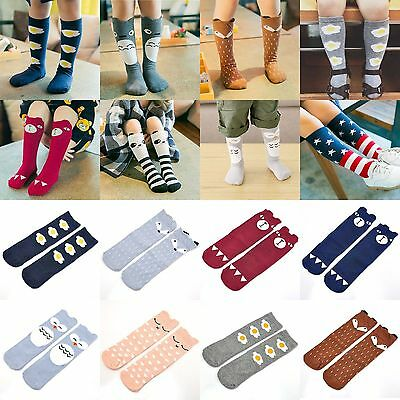 Lovely Girls Baby Kids Toddlers Knee High Warm Socks Leggings For Age 0-6 Years