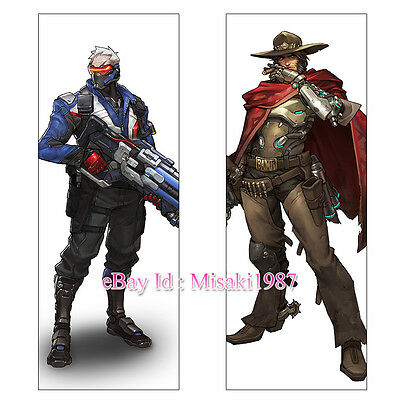 Overwatch OW Dakimakura Jesse McCree Soldier 76 Anime Hugging Body Pillow Case
