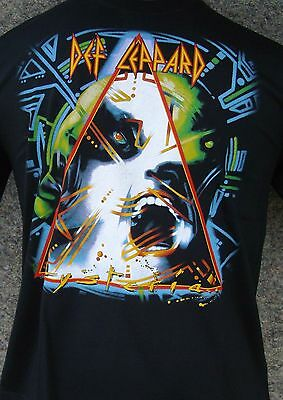 Def Leppard - Hysteria - Rock Band Round Neck T-Shirts 100% Cotton