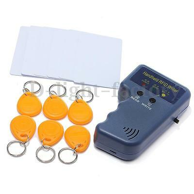 T5577 RFID 125KHz EM4100 ID Card Copier Duplicator & 6 Card & 6 Writable Tag Set