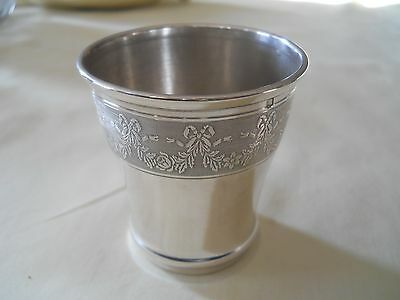 Antique French Sterling 950 Silver Beaker Cup Goblet