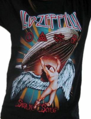 Led Zeppelin - Swan Song - Rock Band Round Neck T-Shirts 100% Cotton