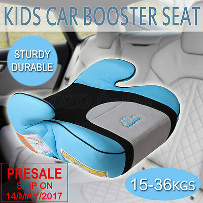 Safe Sturdy Kid Car Booster Seat Baby Child Children Fit 3 To 12 Years Blue NEW