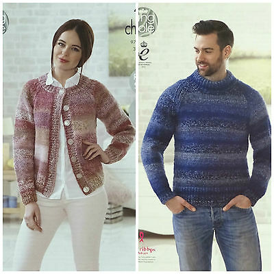 KNITTING PATTERN Mens Easy Knit Long Sleeve Jumper Chunky King Cole 4632