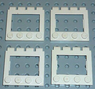 Set of 2 WHITE Vehicle Sunroof Trans-Light Blue Glass COMPLETE ASSEMBLY LEGOS