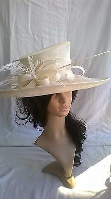 Ivory Hat.. .New.Wedding.Occasion races..formal hat.mother of the bride