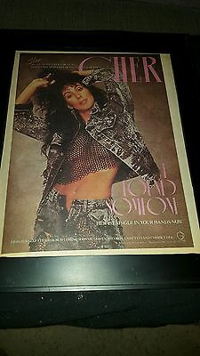 Cher I Found Someone Rare Original Radio Promo Poster Ad Framed!