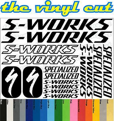 Specialized S-Works Die-cut decal /sticker sheet (cycling, mtb, bmx, road, bike)