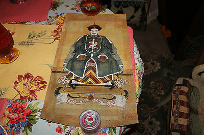 Stunning Chinese Japanese Painting On Paper-King Emperor Scholar-Signed Stamped
