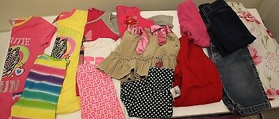 LOT OF 13 PCS  GIRLS CLOTHING  2-5 T.(New and used )