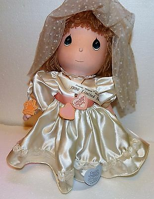 Precious Moments by applause 1990 limited edition Doll Wedding ceremony W/STAND