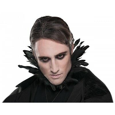 Black Feather Collar Costume Accessory Adult Halloween