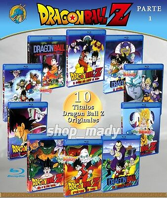 Paq. 10 Movies de Dragon Ball Z Blu-ray en ESPAÑOL LATINO Region Free (Parte 1)