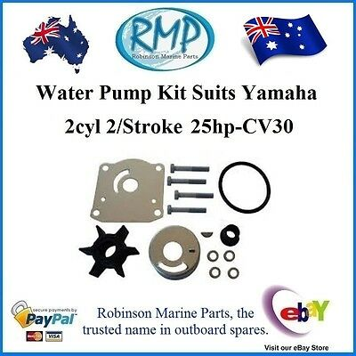 A Brand New Water Pump Kit Suits Yamaha 25hp-30hp 2Cyl 2/Stroke # R 61N-W0078-00