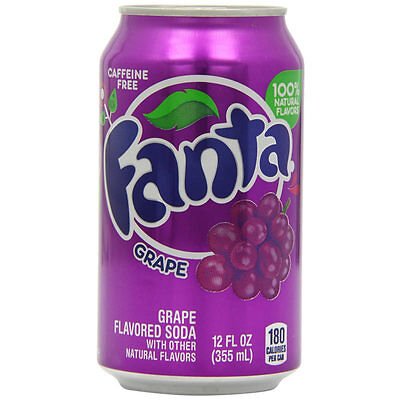 Fanta Grape Flavour Drink USA 24 X 355ml Cans - Bulk Party Pack