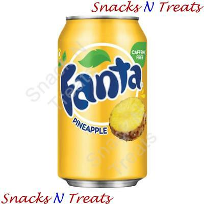 Fanta Pineapple Flavour Soft Drink USA 24 X 355ml Cans - Bulk Party Pack