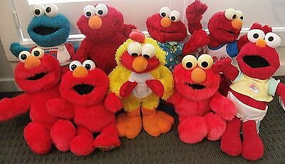 Elmo cookie monster original tickle me surprise limbo TYCO lot toy x9 vintage