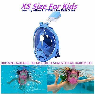 Kids Full Face Snorkeling Mask Child Xs Surface Snorkel Goggles Gopro New