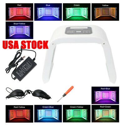 10 Colors PDT Photon LED Phototherapy Facial Skin Care Acne Removal Lamp SPA