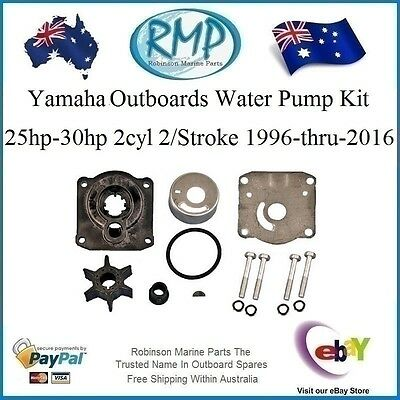 A Brand New Water Pump Kit Yamaha 25hp-30hp 2Cyl 2/Stroke # R 61N-W0078 H