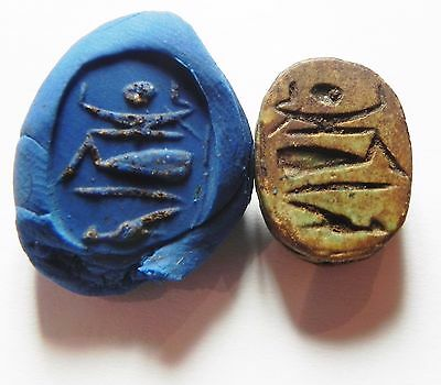 Zurqieh -Af573- Ancient Egypt , New Kingdom Stone Scarab. 1400 B.c