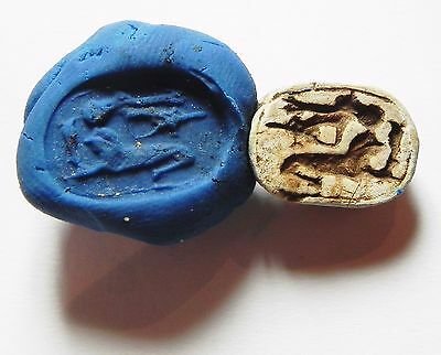 Zurqieh -Af576- Ancient Egypt , New Kingdom Stone Scarab. 1400 B.c