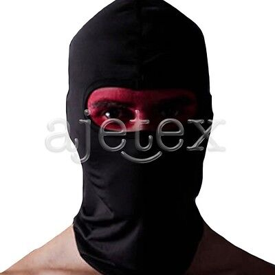 Motorcycle Thermal Balaclava Ski Face Mask Under Helmet Neck Warmer Black