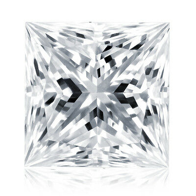 0.51 Ct Princess Cut Brilliant White Natural Loose Diamond Color F Clarity I1