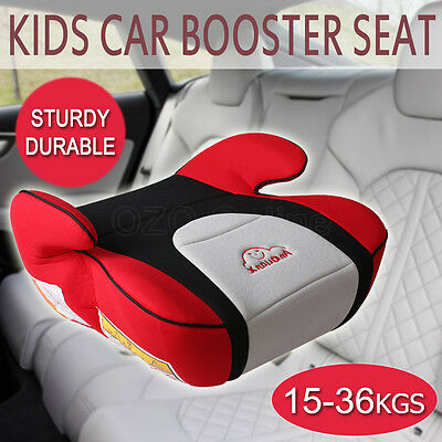Safe Sturdy Kid Car Booster Seat Baby Child Children Fit 3 To 12 Years Red AUS