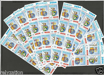 GEORGIA - Europa CEPT 2004 Holidays MNH 10 x booklet sheets of MNH stamps 140€